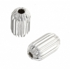 Metal Bead Pleated Tube 10x6mm Silver